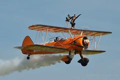 Breitling Wingwalkers (Bri_J) Tags: nikon airshow duxford biplane stearman wingwalker d3200 breitlingwingwalkers duxfordspringairshow2013 girlonawing