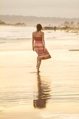 Megan (austinspace) Tags: ocean california sunset portrait woman beach del hotel dress pacific sandiego dusk coronado magichour