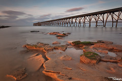 Low Tide At Steetley (Dave Brightwell) Tags: sunset sunlight seascape canon coast pier rocks cleveland coastal hitech hartlepool steetley bwnd davebrightwell