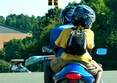 Helmets (tommaync) Tags: boy people man oneaday campus nc nikon helmet august photoaday motorcycle driver suzuki rider chapelhill unc pictureaday d40 digitalcameraclub project365 2013 project365237 theuniversityofnorthcarolina project365083013