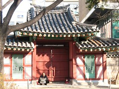 seoul (julyasteyh) Tags: city house man tree traditional korea seoul