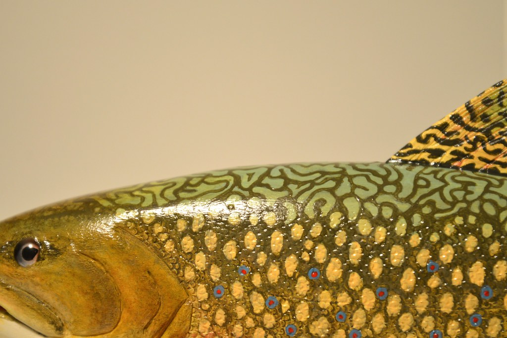 Carved wooden trout make stuff with your hands