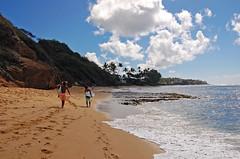 """Two Against the Sea"" (jcc55883) Tags: ocean sky clouds hawaii sand nikon oahu shoreline pacificocean shore surfers blackpoint yabbadabbadoo d40 kaalawaibeach nikond40 diamondheadroad"
