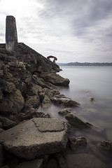 (Nukie13) Tags: longexposure travel sea seascape clouds landscape fishing rocks tour stones philippines iloilo scapes waterscape dinagyang iloilocity nd110 morefuninthephilippines wearefuntasticphilippines