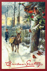 Vintage reprint Christmas postcard (printed in Ukraine) (katya.) Tags: christmas vintage postcard ukraine reprint