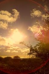 Approaching sunset over the Irish Sea (billnbenj) Tags: sunset cumbria lensflare barrow irishsea