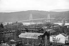 Mid-Hudson Bridge, Poughkeepsie, NY (josefrancisco.salgado) Tags: bridge bw usa newyork blancoynegro monochrome ro river puente us blackwhite nikon unitedstatesofamerica poughkeepsie hudsonriver grayscale nikkor d4 midhudsonbridge 70200mmf28gvrii 2013112229617