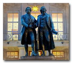 Goethe & Schiller Monument (thirau) Tags: germany weimar thringen thuringia alemania theaterplatz goethe schiller goetheschillerdenkmal thirau hrauk goetheschillermonument