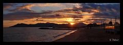 2013-12 - Cannes la Bocca 1 (ts) (g_dubois_fr) Tags: sunset sea panorama mer de soleil mediterranean cannes pano coucher ctedazur panoramique mditerrane frenchriviera estrel