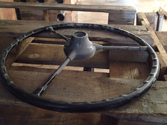 image (Wouter Duijndam) Tags: 3 wheel volkswagen three steering spoke 1954 speaks spoken transporter t1 barndoor stuur spijlbus