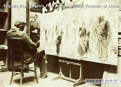 Eugenio Prati Eugenio Prati mentre dipinge Fravretto al Liston ad Ala