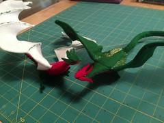 Felt Dragons (wickedbear) Tags: madeit uploaded:by=flickrmobile flickriosapp:filter=nofilter
