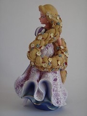 Rapunzel Couture de Force Figurine by Enesco - First Look - Full Right Rear View (drj1828) Tags: us princess braids figurine rapunzel purchase disneystore firstlook tangled 8inch enesco 2013 couturedeforce