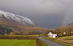 the lakes district (plot19) Tags: uk england house lake snow mountains green grass landscape rainbow nikon northwest britain district hill north lakedistrict hills cumbria northern plot19
