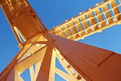 Jacobs Ladder (Raphooey) Tags: wood uk blue sea england sky sun sunlight southwest west beach canon eos wooden south sid vale diagonal devon gb ladder jacobs sunlit seashore sidmouth vallley diagonals 60d