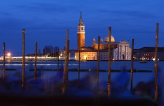 Venice Blue Hour (music_man800) Tags: blue venice winter sunset sea italy holiday blur cold church water night canon evening boat canal dock san europe long exposure cathedral dusk january blurred lagoon tourist hour gondola venezia giorgio veneto 700d pwpartlycloudy