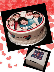 One Direction Cake by Elicia, Santa Cruz,CA, www.birthdaycakes4free.com