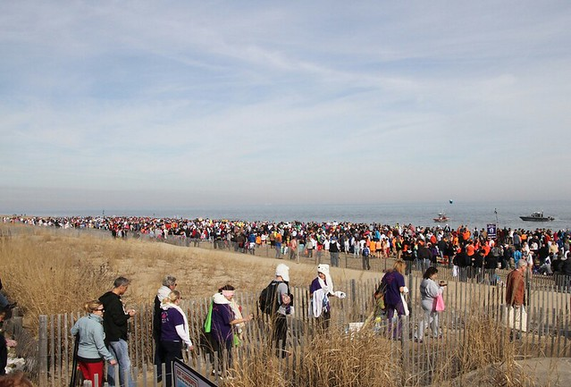 Over 3000 attendees showed support at the 2014 Lewes Polar Bear Plunge