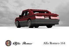 Alfa Romeo 164 V6 (1987) (lego911) Tags: auto italy car sport sedan model italian italia lego fiat render 1987 alfa romeo 164 executive saloon viva luxury challenge cad lugnuts v6 76 povray moc ldd vivaitalia miniland type4 quadifoglio lego911