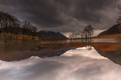 What side is up or down? (Jo Bowman) Tags: autumn trees lake mountains colour water grass clouds canon reflections reeds scotland daylight reversed 60d canon1785mmlens jobowman2014