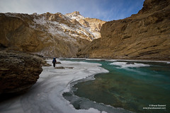 The Frozen Zanskar river, Jammu & Kashmir (Bharat Baswani) Tags: ice trek river frozen zanskar kashmir ladakh chadar