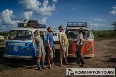 The Kombi Tours Team at the Solar Eclipse (Kombi Nation Tours) Tags: africa travel blue 2 orange bus vw solar eclipse tour roadtrip east safari type uganda van combi kombi campervan bulli