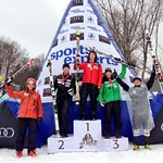 Tyler Werry 2nd, Brodie Seger 3rd, Bromont Quebec Giant Slalom PHOTO CREDIT: Johnny Crichton