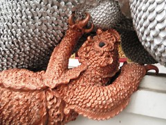 Baby dragon nursing 2 - Chiang Mai, Thailand (ashabot) Tags: sculpture art thailand seasia cities statues dragons temples wat streetscenes antiquities templeguards