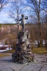 Pan Statue 1 (StylinSteve) Tags: canada statue newfoundland stjohns peterpan fantasy bowringpark