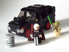 LEGO Minifigure scale Car - 7-wide SUV - seats 7 minifigs (with Count Dooku changing it's wheel colour) (TheOneVeyronian) Tags: city car lego suv landrover minifigure moc legocity 7wide minifigurescale seats7minifigures
