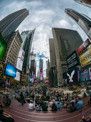 Fisheyes, Times Square (fcy photography) Tags: timessquare fisheyes
