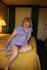 new107003-IMG_5647t (Misscherieamor) Tags: tv feminine cd motel tgirl transgender mature sissy tranny transvestite crossdress ts gurl tg travestis travesti travestie m2f onbed xdresser tgurl slipshowing pleatdress