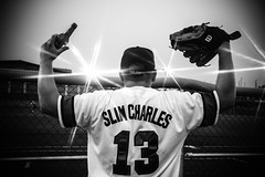 Slim Charles (Johnny Silvercloud) Tags: people blackandwhite bw detail men green sports monochrome fashion canon soldier army blackwhite athletic women asia baseball outdoor candid military families highcontrast korea noflash soldiers daytime jerseys athletes players southkorea vignette unit sportsphotography individuals militaryfamilies espritdecorps canon5dmarkiii lightroom5