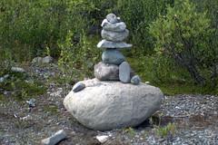 Speaking Stones (Rebeak) Tags: nature sign alaska landscape nikon stones signal stackedstones rebeak