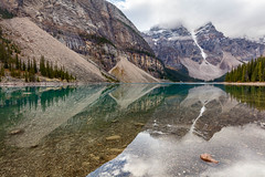 Moraine Reflections (Kirk Lougheed) Tags: alberta banff banffnationalpark canada canadian canadianrockies canadien morainelake valleyofthetenpeaks autumn fall lake landscape mountain outdoor reflection water