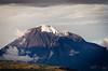 Le Tungurahua dans le soleil couchant