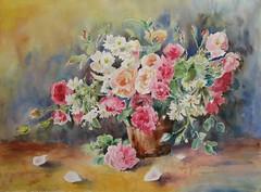 Les bouquets de l'atelier (geneterre69) Tags: aquarelle bouquet fleurs