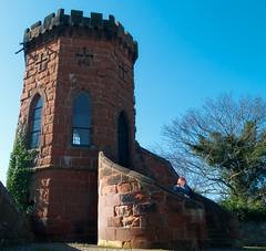 52 Weeks - Week 11 Laura and Julie (World of Izon) Tags: castle watchtower shrewsbury thomastelford sky blue castlegrounds shropshire selfportrait 52weeksproject