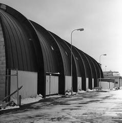 Sporthallen (rotabaga) Tags: sverige sweden svartvitt göteborg gothenburg lomo lomography lubitel166 tmax400 twinlens mediumformat mellanformat 120 6x6 blackandwhite bw bwfp