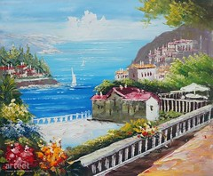 Amalfi Coast, Art Painting / Oil Painting For Sale - Arteet™ (arteetgallery) Tags: arteet oil paintings canvas art artwork fine arts architecture travel europe tourism city building sky town water summer landmark landscape old vacation ancient history exterior sea cityscape historic famous culture house france mediterranean tower outdoor urban tree historical european holiday religion buildings hill monument sunny sun houses day stone roof italy coast landscapes cities coasts blue flesh