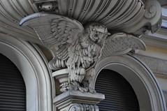 architectural detail owl (rafasmm) Tags: lodz łódź polska poland city street architectural detail owl old house
