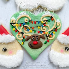 Rudolph the Red-nosed Reindeer (cREEative_Cookies) Tags: holiday decorated sugar cookies creeative decorating platter holidays festivities party theme desserts thanksgiving give thanks pumpkin pie snowflakes winter wonderland gingerbread house ninjabread grinch stole christmas 3d tree snowmen snowflake snowman turkey face santa claus grumpy cat ornaments icicles rudolph reindeer sunflower art edible yummy food