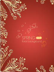 Elegant gold decorative pattern vector background (vectorbackground) Tags: old art classic love beautiful illustration paper design european antique decorative background curtain banner decoration ornament fabric invitation cover backdrop draw elegant ornate baroque deco luxury element engrave elegance damask