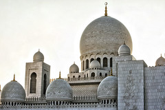 The Minarets (Naveed Siraj) Tags: blue white tourism architecture tomb grand structure abudhabi marble minarets grandmosque