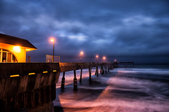 Slalom (eCHstigma) Tags: ocean california longexposure seascape beach zeiss landscape coast pier nikon pacifica distagon d600 25mmf2 distagont225