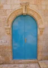 Jerusalem (DogWink) Tags: blue israel doors jerusalem middleeast churches churchoftheholysepulchre holyland oldcity bluedoor churchoftheresurrection baroquearchitecture romanesquearchitecture biblicalplaces basilicaoftheholysepulchre