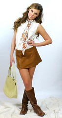 going Mod (ourcasualaffair) Tags: scarf hair mod boots skirt