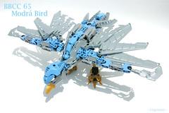 BBCC 65 Modr Bird (~J6Crash~) Tags: blue bird gold factory lego beak hero medium bionicle connections illegitimate bzp