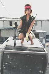Waiting The Apocalypse (Proz XX.) Tags: urban army photoshoot apocalypse dirty machete bandana wasteland proz