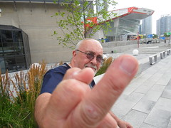 Damned paparazzi, they're everywhere. (DCI Photography) Tags: toronto portraits cntower mikebooth dciphotography